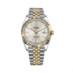Rolex Datejust 41 Steel & 18K Yellow Gold Watch Jubilee Bracelet Silver Dial 126333