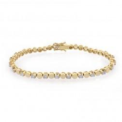 1.50 Carat Round Brilliant Cut Diamond Tennis Bracelet 14K Yellow Gold