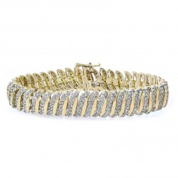 5.00 Carat Round Brilliant Cut Diamond Tennis Bracelet 10K Yellow Gold