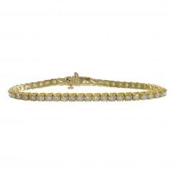 6.15 Carat Round Cut Diamond Tennis Bracelet 14K Yellow Gold