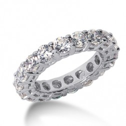 2.22 Carat Ladies 14K White Gold Diamond Eternity Band