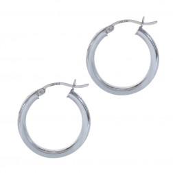 27 mm Diameter Hoop Earrings 14K White Gold