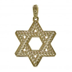 Classic Star of David Pendant 14K Yellow Gold