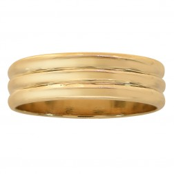 6.1mm 14K Yellow Gold Comfort Fit Mens Wedding Band Ring
