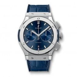 Hublot Classic Fusion Titanium Chronograph Watch Blue Sunburst Dial 521.NX.7170.LR
