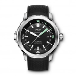 IWC Aquatimer Stainless Steel Divers Watch Black Dial IW329001