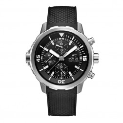 IWC Aquatimer Chronograph Stainless Steel Divers Watch Black Dial IW376803