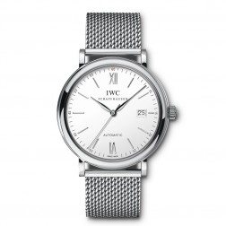 IWC Portofino Stainless Steel Watch Silver Dial on Bracelet IW356505
