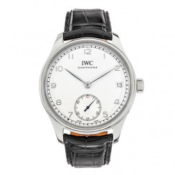 IWC Portuguese Stainless Steel Hand Wound Watch White Dial IW510203