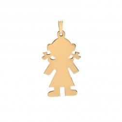 14K Yellow Gold Girl Charm