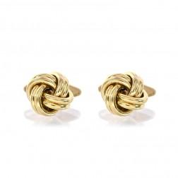 Uno Aerre Mens Double Knot Cufflinks 18K Italian Gold