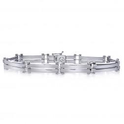 6.0mm 14K White Gold Men's Bracelet