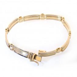 14K Yellow Gold Mens Fancy Link Bracelet