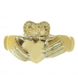 13.5mm Irish Claddagh Men's Ring 14K Yellow Gold
