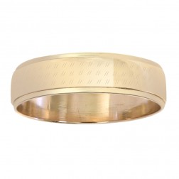 5.9mm 14K Yellow Gold Men's Wedding Band