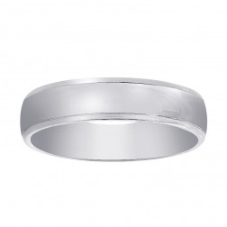 5.8mm 14K White Gold Men's Comfort Fit Wedding Band