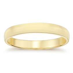 5.3mm 14K Yellow Gold Men's Wedding Band