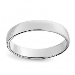 10K White Gold Comfort Fit Wedding Band
