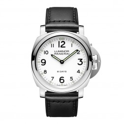 Panerai Luminor Base 8 Day Stainless Steel Watch White Dial PAM00561