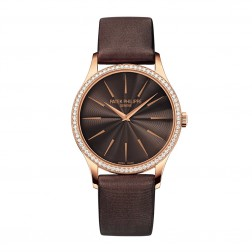 Patek Philippe Ladies Calatrava 18K Rose Gold Watch Diamond Bezel 4897R/001