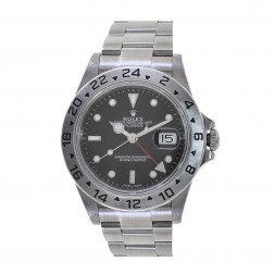 Rolex Explorer II 40mm Stainless Steel Watch Black Dial 16570