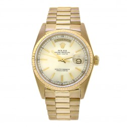 "Rolex Day-Date 36 18K Yellow Gold ""Single Quick"" Watch 18038"