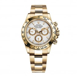 Rolex Daytona 18K Yellow Gold Watch White Index Dial 116508
