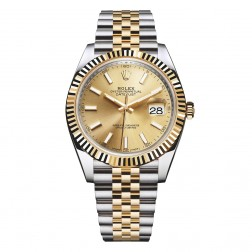 Rolex Datejust 41 Steel & 18K Yellow Gold Watch Champagne Dial 126333