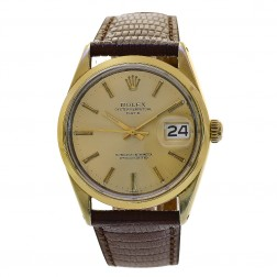 Rolex Oyster Perpetual Date 34 Vintage Stainless Steel Watch 1550