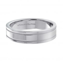 Tiffany & Co. 950 Platinum Wedding Band Ring 6.1 mm