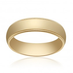 5.0mm 14K Yellow Gold Comfort Fit Wedding Band