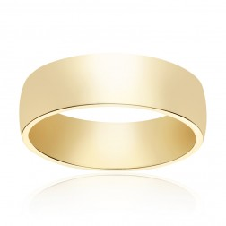 5.8mm 14K Yellow Gold Comfort Fit Wedding Band