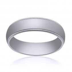 4.0mm 14K White Gold Comfort Fit Wedding Band