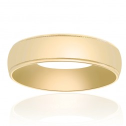 5.7mm 14K Yellow Gold Classic Comfort Fit Mens Wedding Band