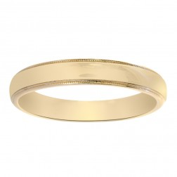4mm 14K Yellow Gold Comfort Fit Wedding Band
