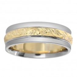 6.00mm 14K Two-Tone Gold Ladies Wedding Band