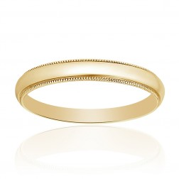 14K Yellow Gold Comfort Fit Mens Wedding Band