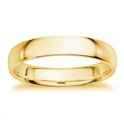 Mens 14K Yellow Gold Comfort Fit Wedding Band 5.6mm