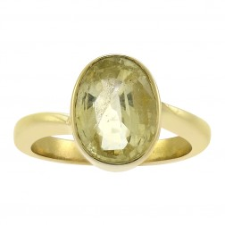 3.00 Carat Raw Cut Citrine Handmade Vintage Solitaire Ring in 18K Yellow Gold