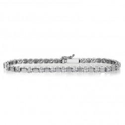 4.00 Carat Round Brilliant Cut Diamond Tennis Bracelet 14K White Gold