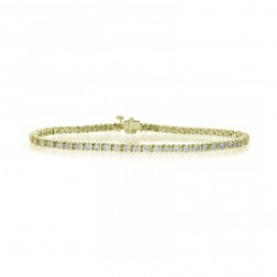 2.50 Carat Round Brilliant Cut Diamond Tennis Bracelet 14K Yellow Gold