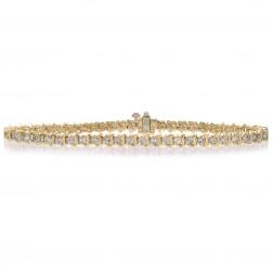 2.50 Carat Diamond S Link Tennis Bracelet 14K Yellow Gold