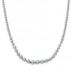 10.00 Carat Diamond Women Necklace 14K White Gold