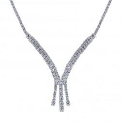 6.25 Carat Designer Diamond Necklace 14K White Gold