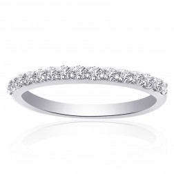 0.50 Carat Round Cut Diamond Wedding Band Platinum