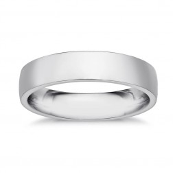 4.0mm 14K White Gold Comfort Fit Wedding Band Ring