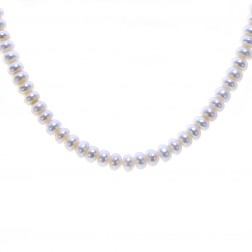 17.5 mm Freshwater Pearl Necklace 14K Yellow Gold Lock