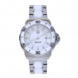 Tag Heuer Formula 1 Stainless Steel/Ceramic Ladies Watch with Diamond Dial WAH1315