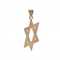Star of David Religious Hand Made Vintage Pendant 14K Rose Gold