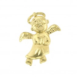 Cupid Angel Pendant 14K Yellow Gold